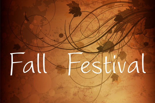 """Fall Festival"" on autumn grunge background."